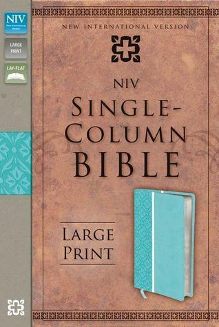 Single-Column Bible Large Print Bible-NIV Zondervan Publishing