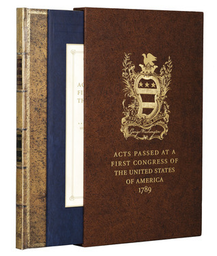 Acts of Congress 1789: Includes the Constitution and the Bill of Rights George Washington