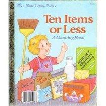 Ten Items Or Less  by  Stephanie Calmenson