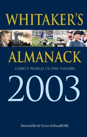 Whitakers Almanac 2003  by  The Stationery Office