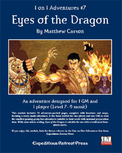 One on One Adventures # 7: Eyes of the Dragon Matthew Carson