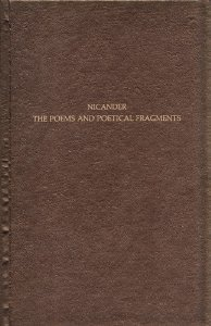 The Poems And Poetical Fragments Nicander of Colophon