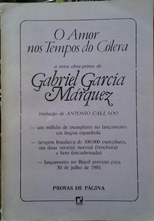 O Amor Nos Tempos do Cólera Gabriel García Márquez