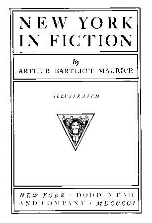 New York in Fiction (Empire State historical publications series, No. 61)  by  Arthur Bartlett Maurice