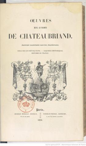 Essai sur les révolutions  by  François-René de Chateaubriand