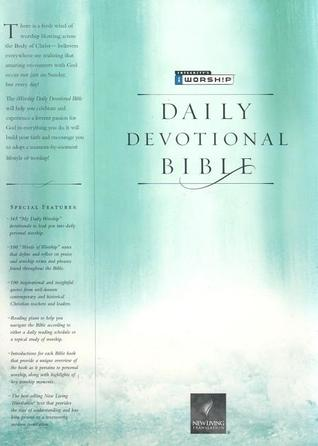 Holy Bible: I Worship Daily Devotional Bible-Nlt : Bonded Leather - Black  by  Anonymous
