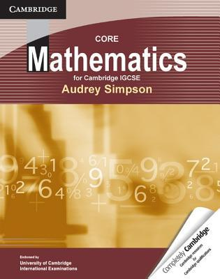 Core Mathematics for Cambridge Igcse eBook Audrey Simpson