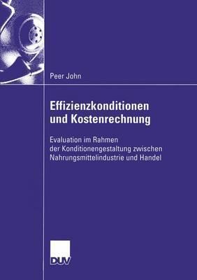Effizienzkonditionen Und Kostenrechnung  by  Peer John