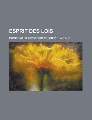 Esprit Des Lois Montesquieu