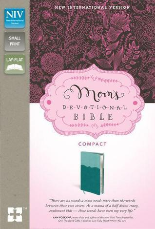 NIV, Moms Devotional Bible, Imitation Leather, Blue/Blue, Lay Flat  by  Zondervan Publishing
