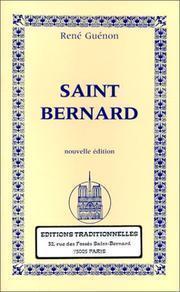 Saint Bernard  by  René Guénon
