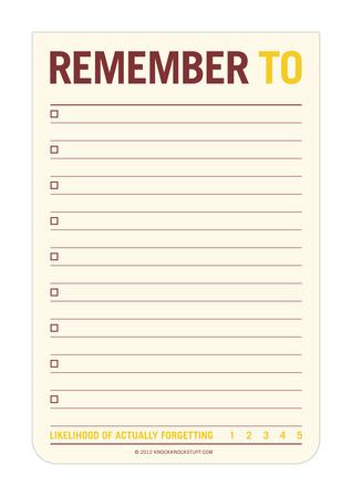 Remember To Jumbo Sticky Note Knock Knock