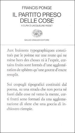 Il partito preso delle cose  by  Francis Ponge