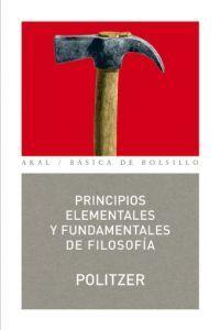 Principios elementales y fundamentales de filosofía Georges Politzer