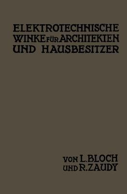 Elektrotechnische Winke Fur Architekten Und Hausbesitzer L Bloch