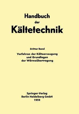 Verfahren Der Kalteerzeugung Und Grundlagen Der Warmeubertragung Hans Dieter Baehr