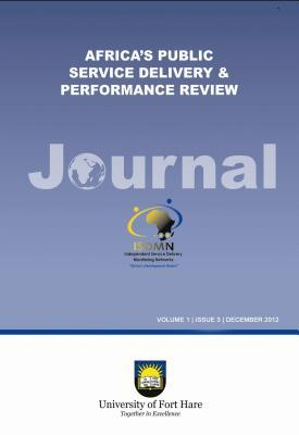 Africas Public Service Delivery and Performance Review Journal  by  Edwin Ijeoma