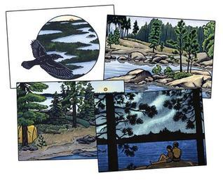 Northwoods Leave Only Ripples: A Canoe Country Sketchbook [With 8 Envelopes]  by  Consie Powell
