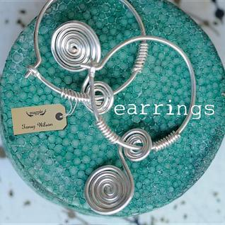 Earrings  by  Tansy Wilson