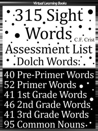 First 315 Sight Words - Assessment List (Dolch Words) Learn to Read & Spell (Childrens Learn To Read C.F. Crist