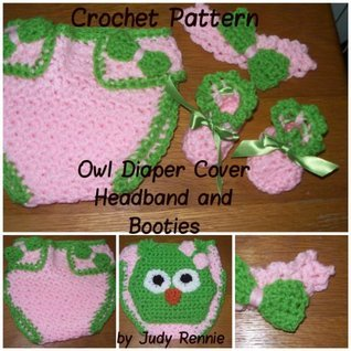 Crochet Pattern - Owl Diaper Cover Set  by  Judy Rennie