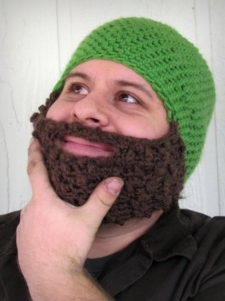 Bearded hat/facewarmer crochet my love designs