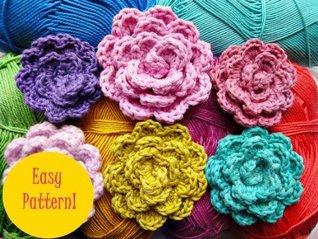 Alexandra Crochet Easy Flower Wonderful Hands
