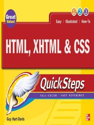 HTML, XHTML & CSS QuickSteps  by  Guy Hart-Davis