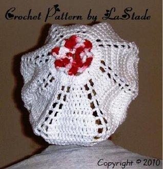 Rose Food Snood Scrubs Hat Crochet Pattern Lunch Ladies Hat Food Workers Medical Scrubs Hat  by  Lori Stade