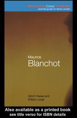 Maurice Blanchot Ullrich Haase