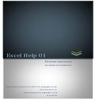 Excel Help 01 Keashan Jayaweea