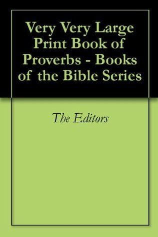 Very Very Large Print Book of Proverbs - Books of the Bible Series Various