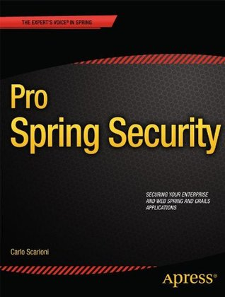 Pro Spring Security Carlo Scarioni
