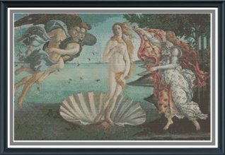 Birth of Venus Counted Cross Stitch Pattern  by  Fox and Crow Design
