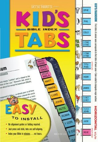 Verse Finders Kids Rainbow Colored Animal Bible Index Tabs Unknown
