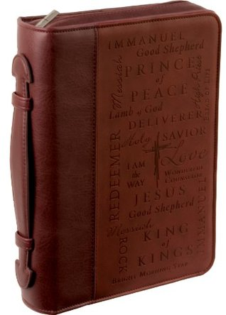 Names of Jesus Large Burgundy Bible / Book Cover  by  Christian Art Gifts