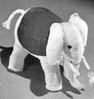 CROCHETED ELEPHANT Vintage Stuffed Animal TOY CROCHET PATTERN from the Mid 1900s (Children Kids Crafts) Kindle Download eBook Northern Lights Vintage