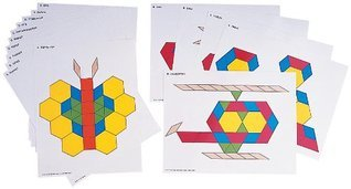 Pattern Cards for Pattern Blocks Set Activity Cards School Specialty Publishing
