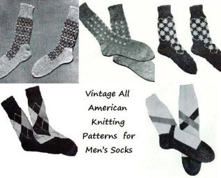 Vintage All American Knitting Patterns for Mens Socks Unknown