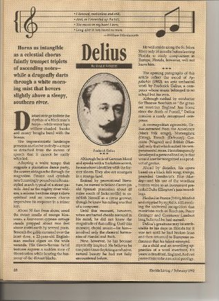Frederick Delius: Music with the Imprint of Florida Dale Andrew White