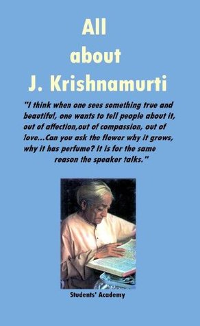 All about J. Krishnamurti-An Enlightened One  by  Students Academy
