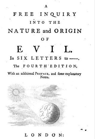 A Free Inquiry into the Nature and Origin of Evil Soame Jenyns