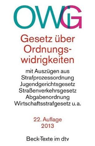 Gesetz Uber Ordnungswidrigkeiten  by  Deutscher Gesetzgeber