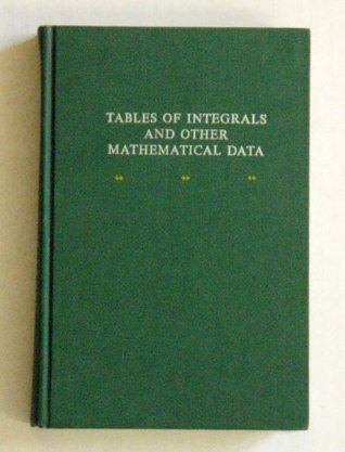 Tables of Integrals and Other Mathematical Data Herbert B. Dwight