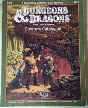 Creature Catalogue (Dungeons and Dragons Accessory AC9 )  by  Jim Bambra