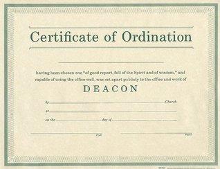 Certificate of Ordination Deacon Parchment Paprer  by  Holman Bible Publisher