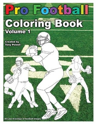 Pro Football Coloring Book Tony Powell