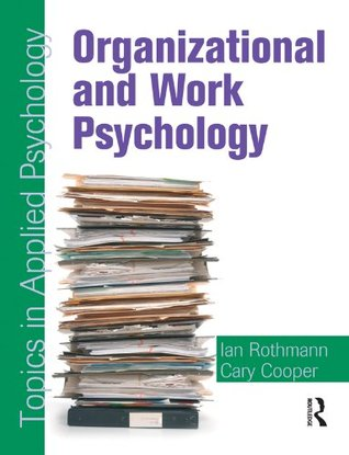 Organizational and Work Psychology: Topics in Applied Psychology  by  Cary L. Cooper