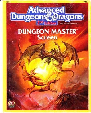 Advanced Dungeons & Dragons: Dungeon Master Screen, Ref 1, No. 9263, 2nd Edition Steve Winter