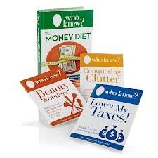 WHO Knew? The Money Diet 4-piece Complete Money-saving Book Set Bruce Lubin  by  BRUCE & JEANNE BOSOLINA-LUBIN